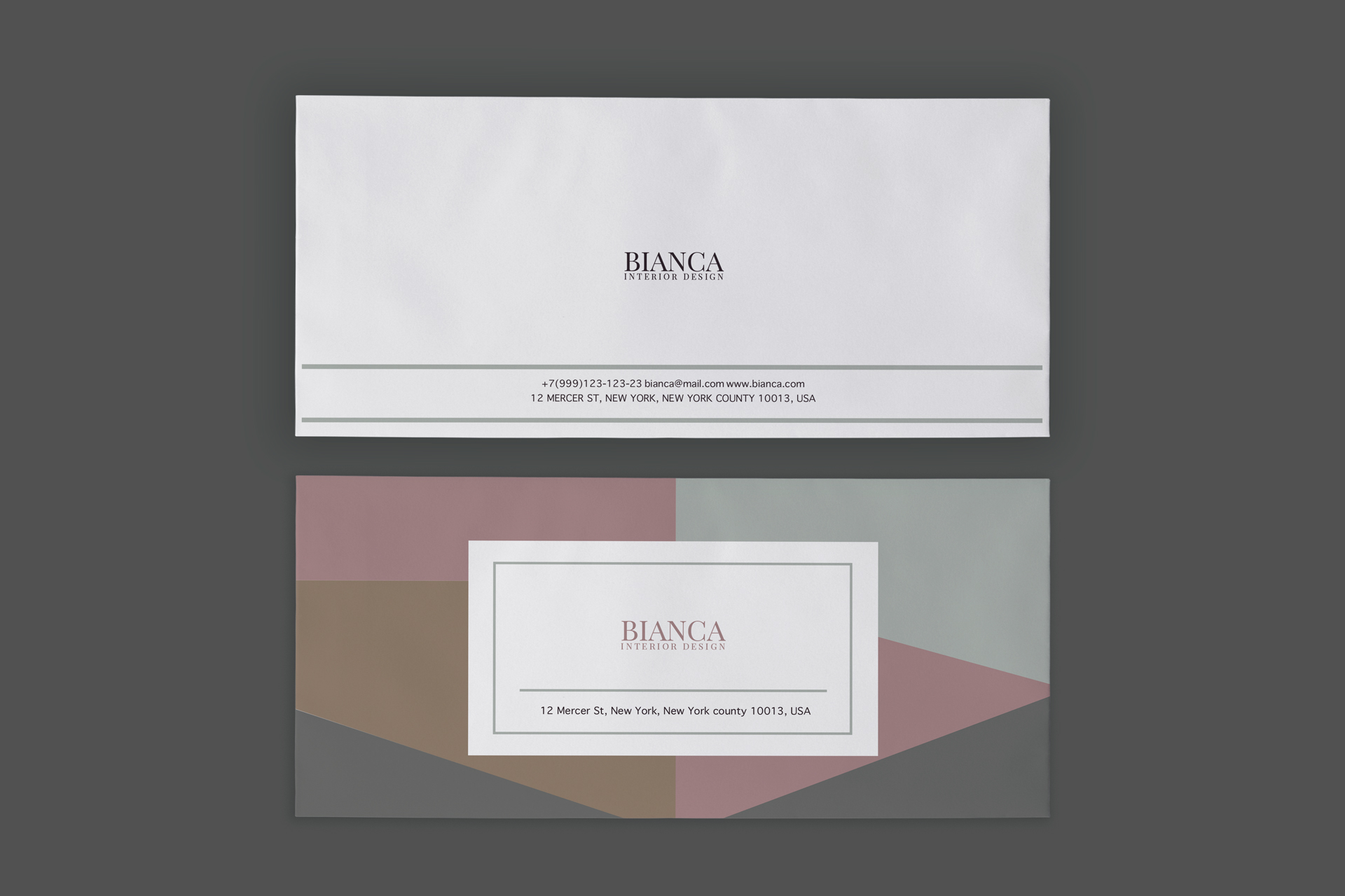 Branding design for interior designer