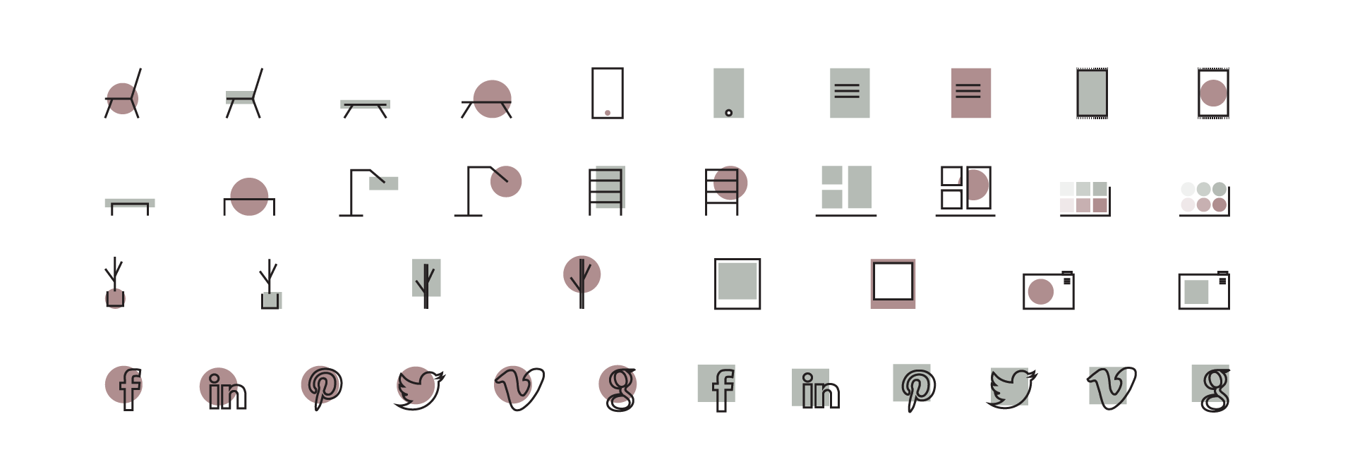 Free icons for interior design by Brando.ltd