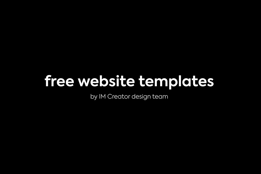 Free website templates by IM Creator