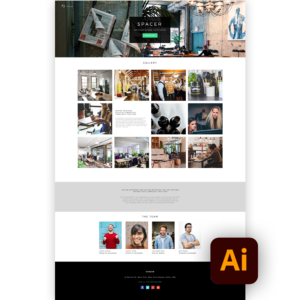 Free website template ai