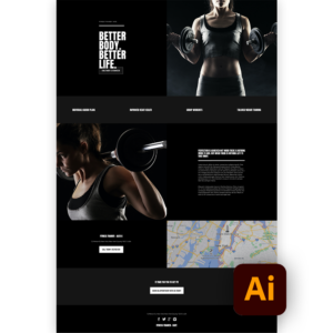 Free workout website template ai