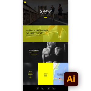 Free fitness website template ai