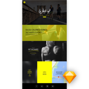 Free fitness website templates sketch