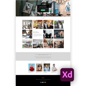 Free website template adobe xd