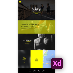 Free fitness website template xd